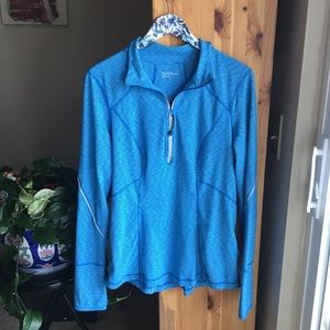 Zella My Run Half Zip Pullover in Blue Radiant, XL